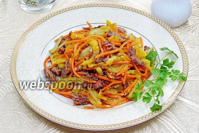 рецепты салатов их моркови с мясом с фото дневник