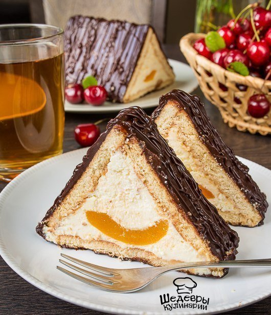 Фото рецепт торт без выпечки шалаш