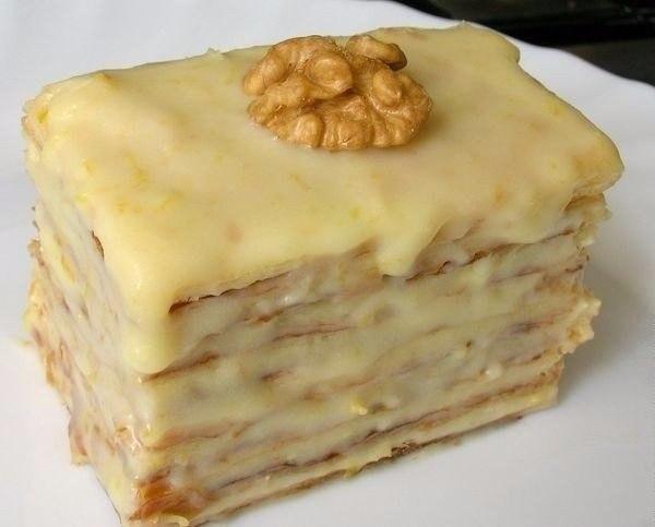 Пирожное со сгущенкой рецепт с фото