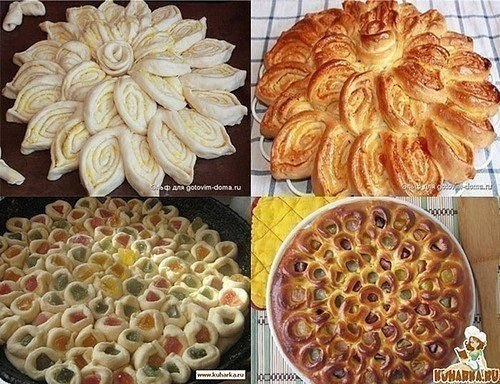 Украшаем дрожжевые пироги
